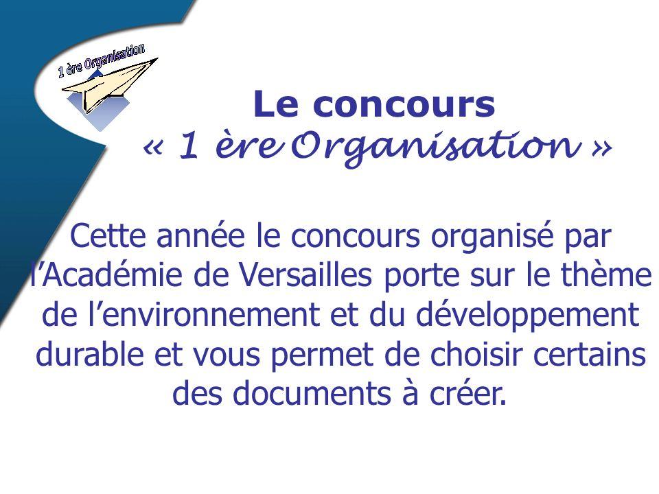 Cette année le concours organisé par lAcadémie de Versailles porte sur le thème de lenvironnement et du développement durable et vous permet de choisi