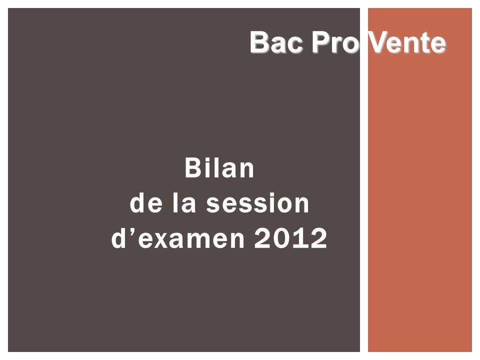 Organisation Parution de la circulaire dorganisation prévue autour du 15 mars 2013 Bac Pro Vente Session 2013