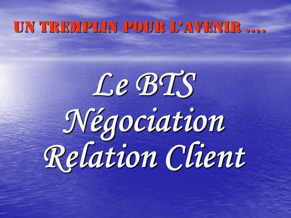 Le BTS Négociation Relation Client Un tremplin pour lavenir ….