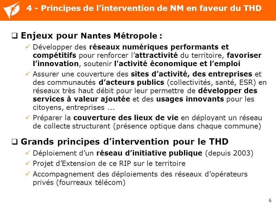 6 Enjeux pour Nantes Métropole : Développer des réseaux numériques performants et compétitifs pour renforcer lattractivité du territoire, favoriser li