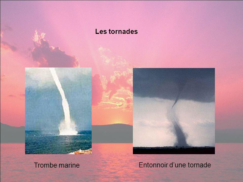 Les tornades Trombe marine Entonnoir dune tornade