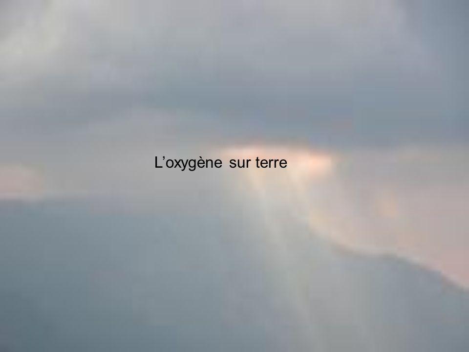 Loxygène sur terre