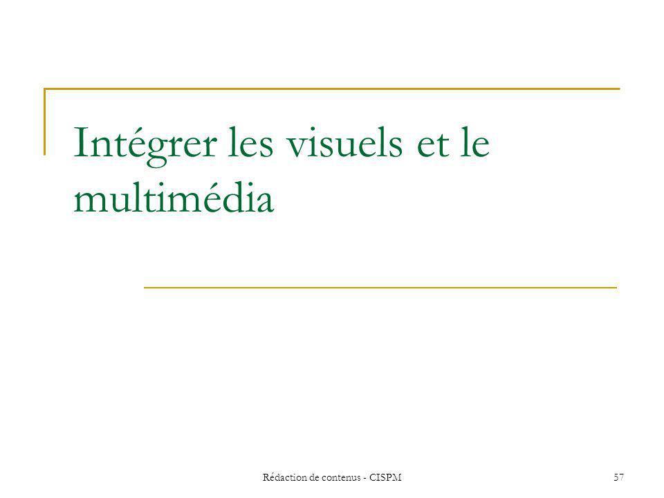 Rédaction de contenus - CISPM 58 Pourquoi des images .