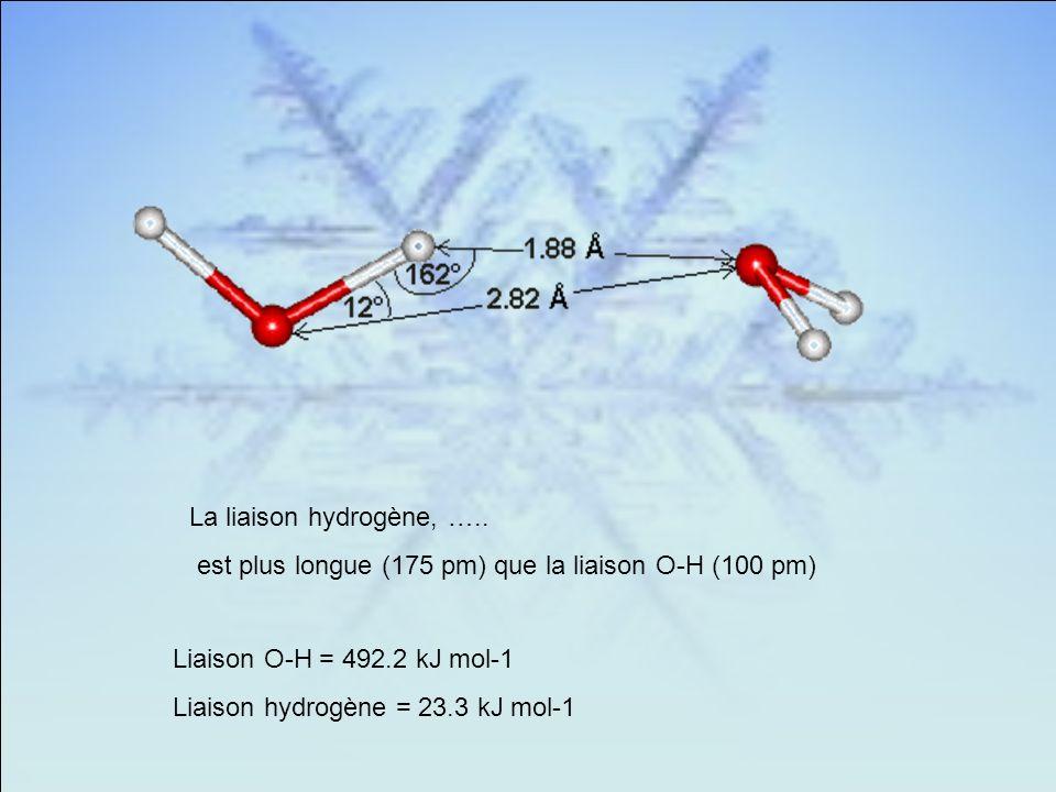 La liaison hydrogène, …..