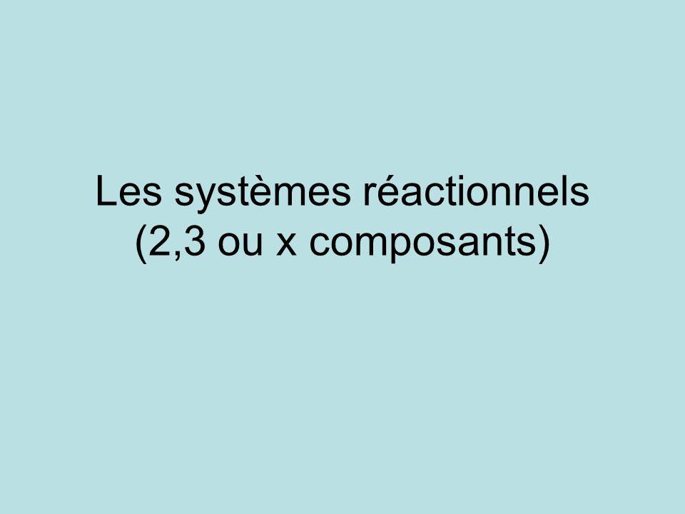 Les systèmes réactionnels (2,3 ou x composants)