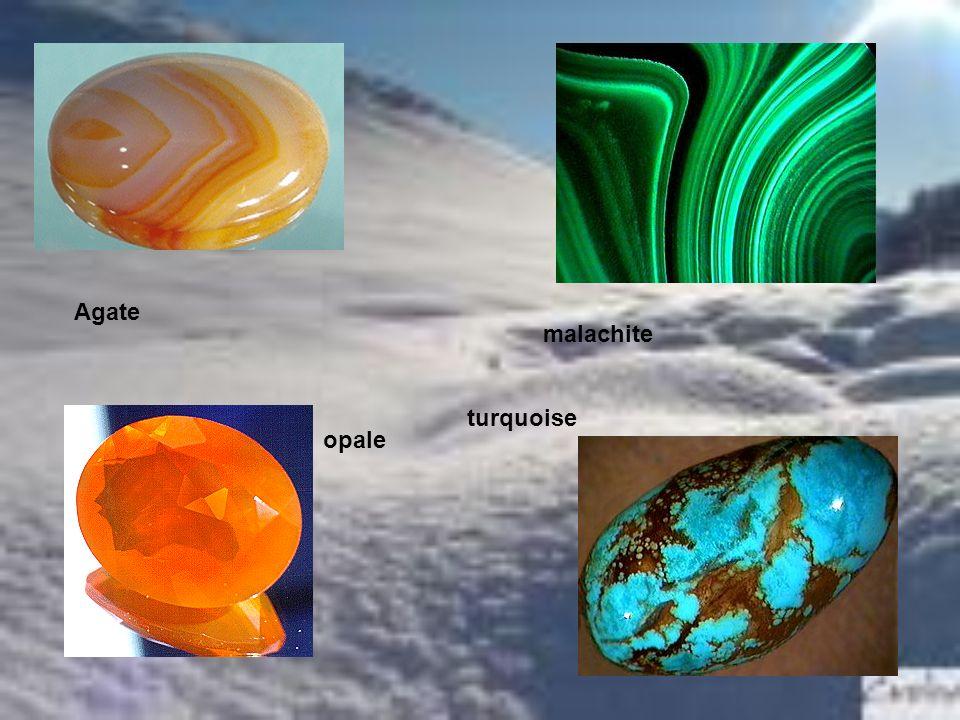 Agate malachite opale turquoise