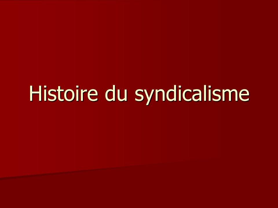 Histoire du syndicalisme