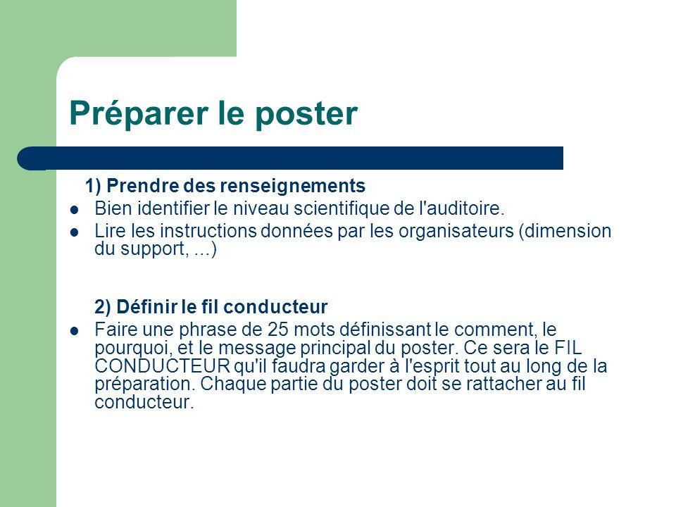 Choisir l aspect du poster Choix du support Se renseigner sur la dimension des panneaux recevant le poster.