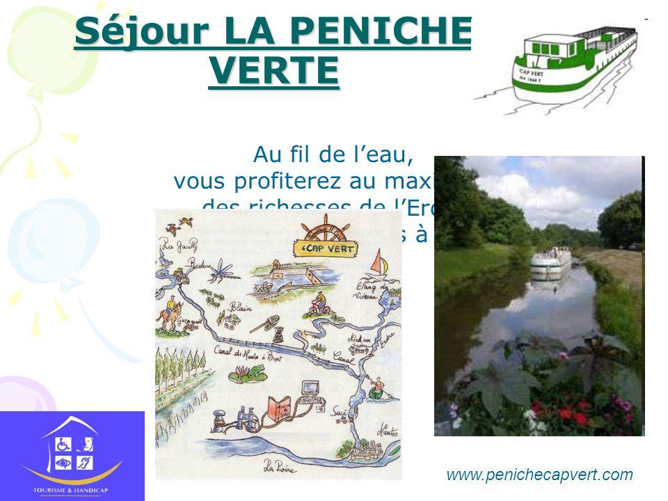 Séjour LA PENICHE VERTE Au fil de leau, vous profiterez au maximum des richesses de lErdre et du canal de Nantes à Redon www.penichecapvert.com