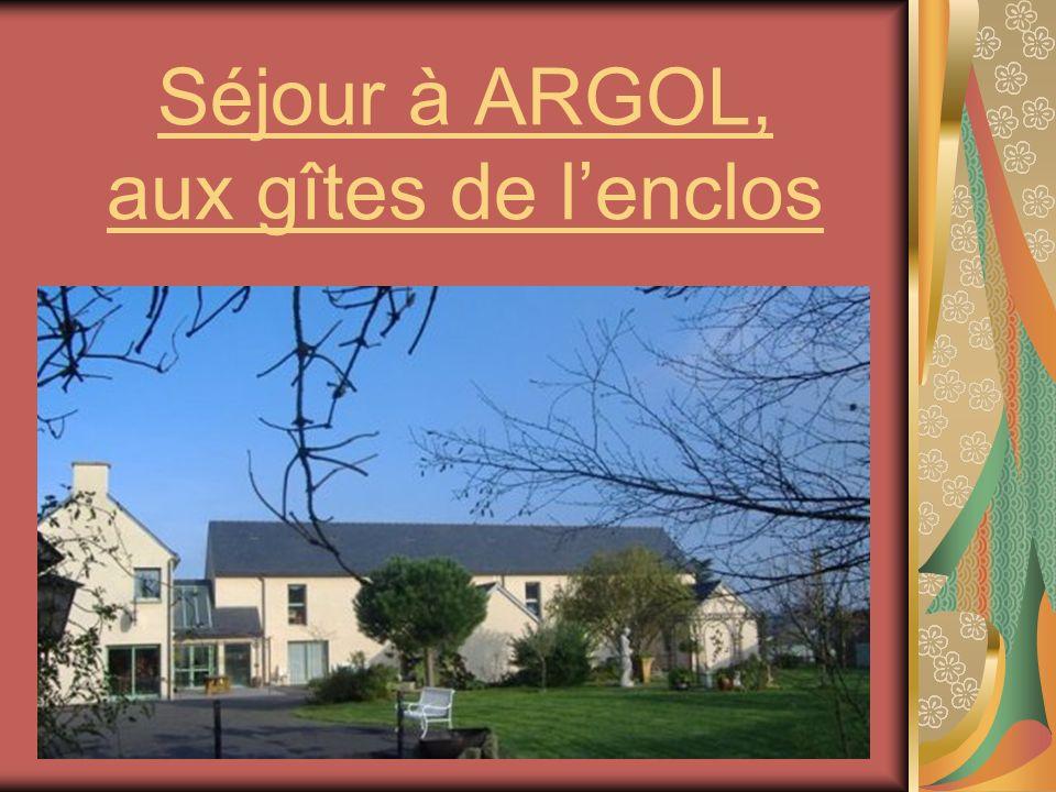 Séjour à ARGOL, aux gîtes de lenclos