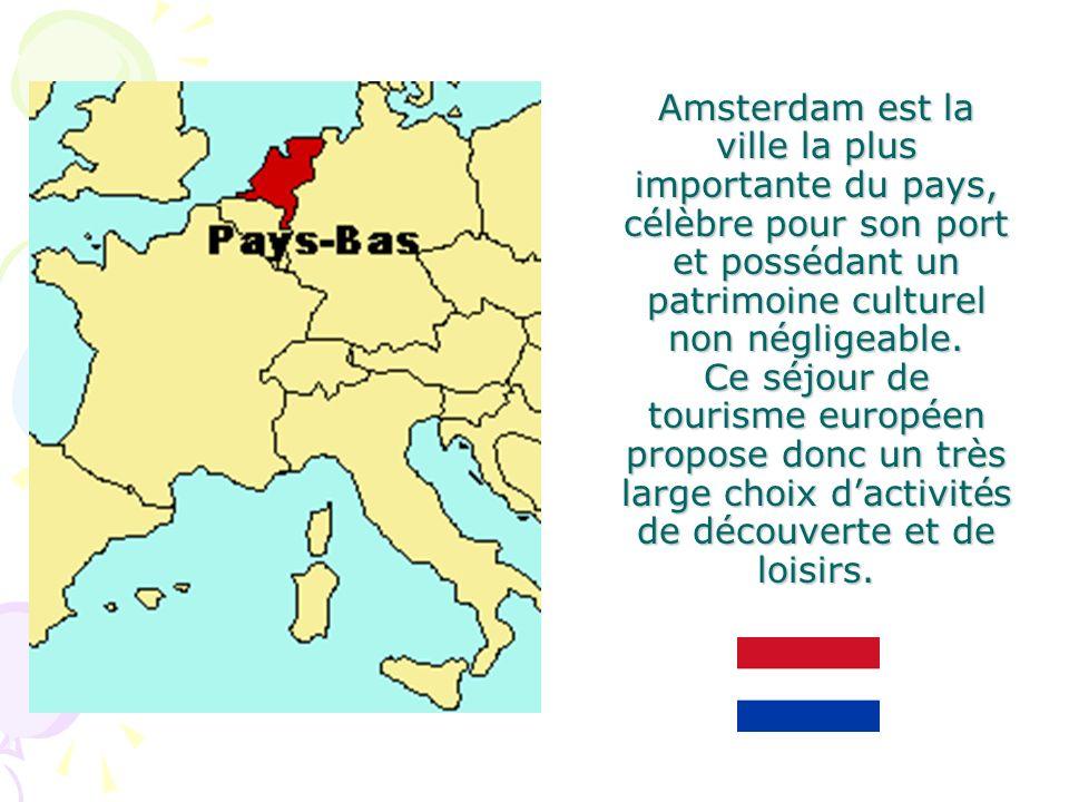 Amsterdam est la ville la plus importante du pays, célèbre pour son port et possédant un patrimoine culturel non négligeable. Ce séjour de tourisme eu