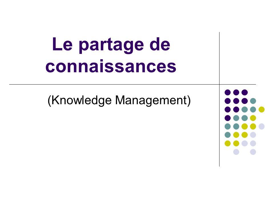 Le partage de connaissances (Knowledge Management)