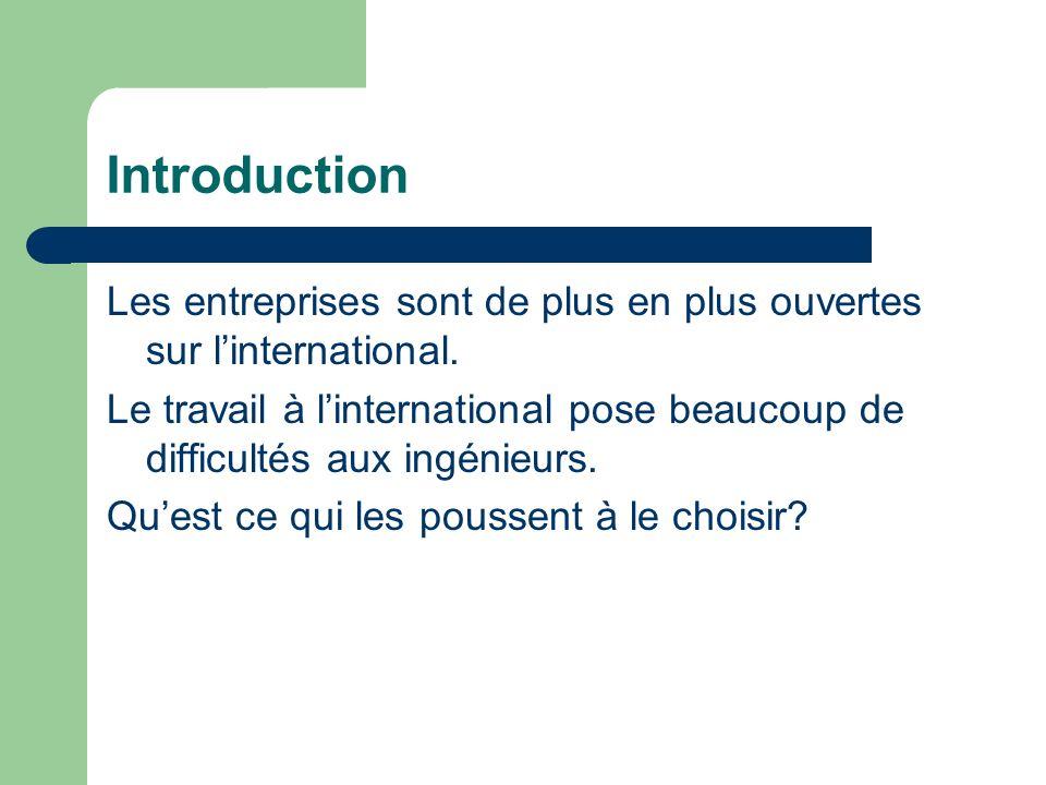 Introduction Les entreprises sont de plus en plus ouvertes sur linternational.