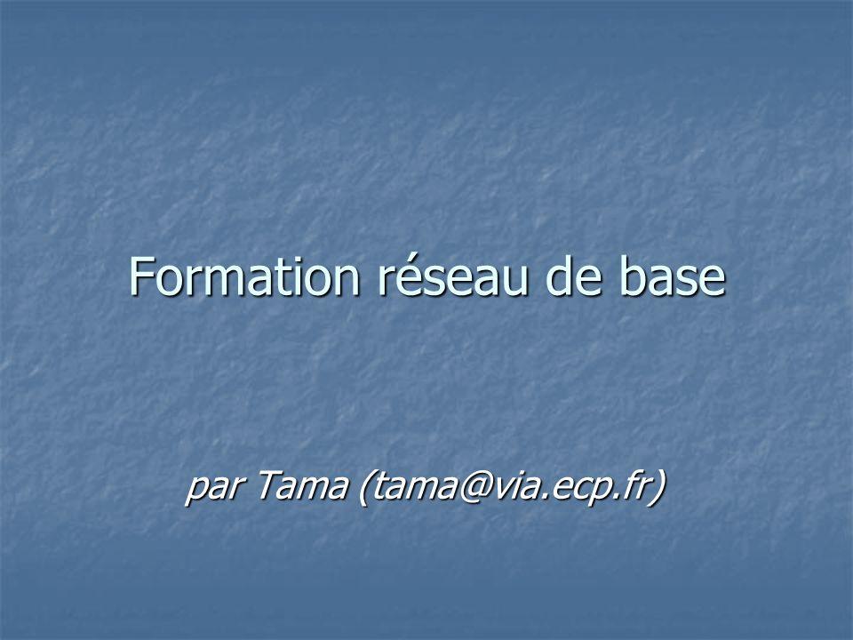 Formation réseau de base par Tama (tama@via.ecp.fr)
