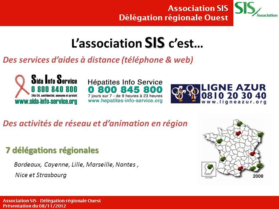 Le TPE au VIH est une stratégie de prévention peu connue par la population générale Le TPE au VIH doit être considéré comme une stratégie de prévention à valoriser auprès des populations ciblées 3 SIS Association SIS Délégation régionale Ouest SIS - Association SIS - Délégation régionale Ouest Présentation du 08/11/2012 CONTEXTE