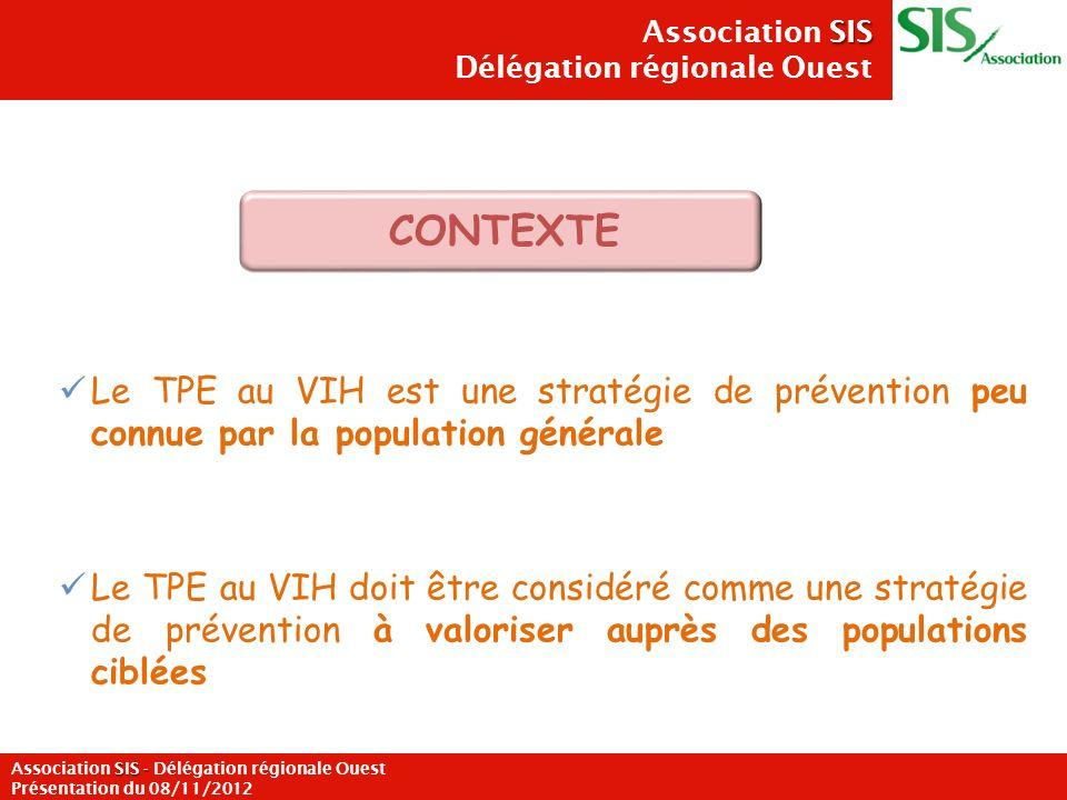 Le TPE au VIH est une stratégie de prévention peu connue par la population générale Le TPE au VIH doit être considéré comme une stratégie de préventio