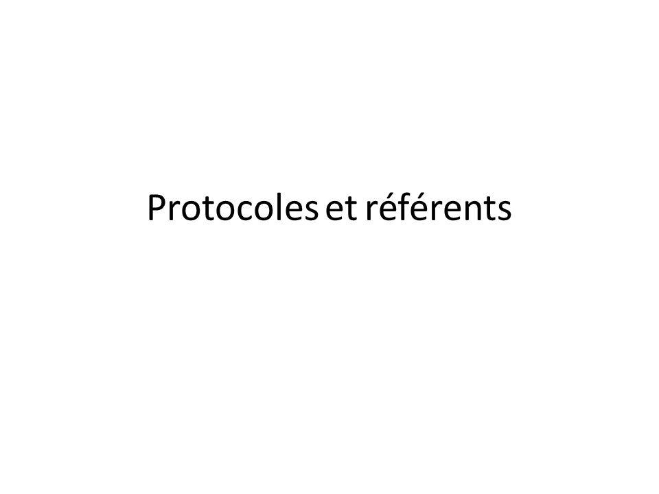 Protocoles et référents