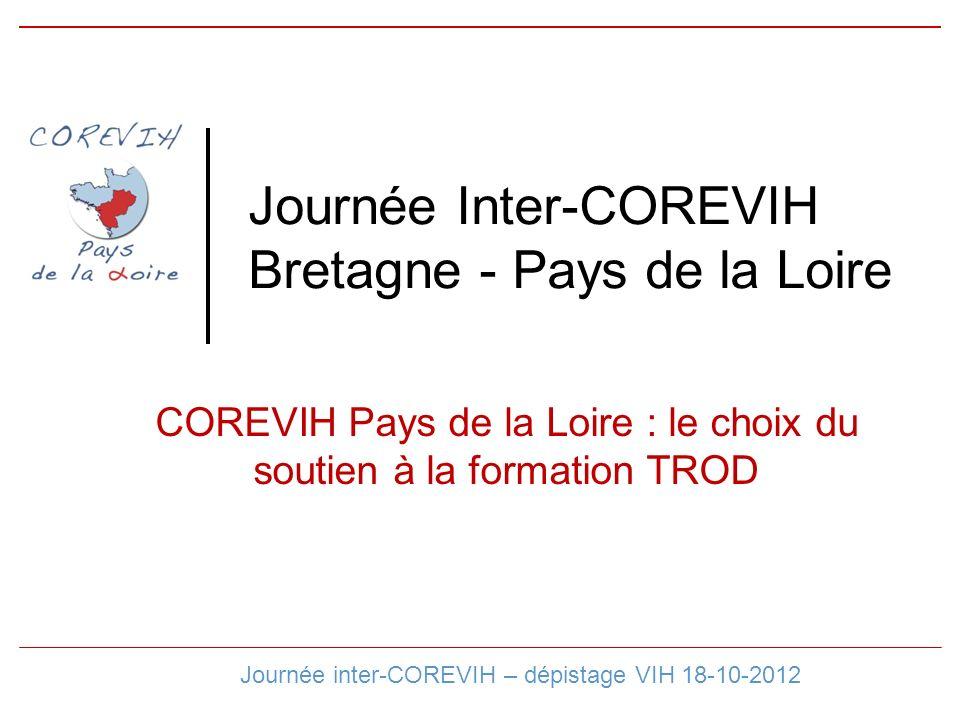 Journée Inter-COREVIH Bretagne - Pays de la Loire COREVIH Pays de la Loire : le choix du soutien à la formation TROD Journée inter-COREVIH – dépistage