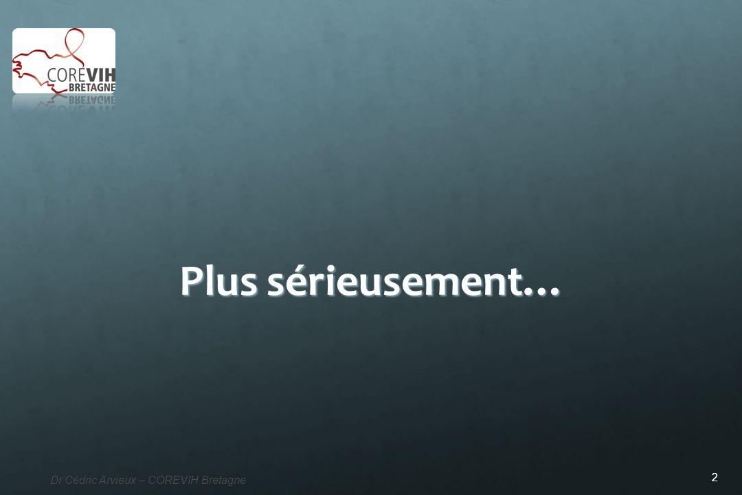 2 Dr Cédric Arvieux – COREVIH Bretagne Plus sérieusement…