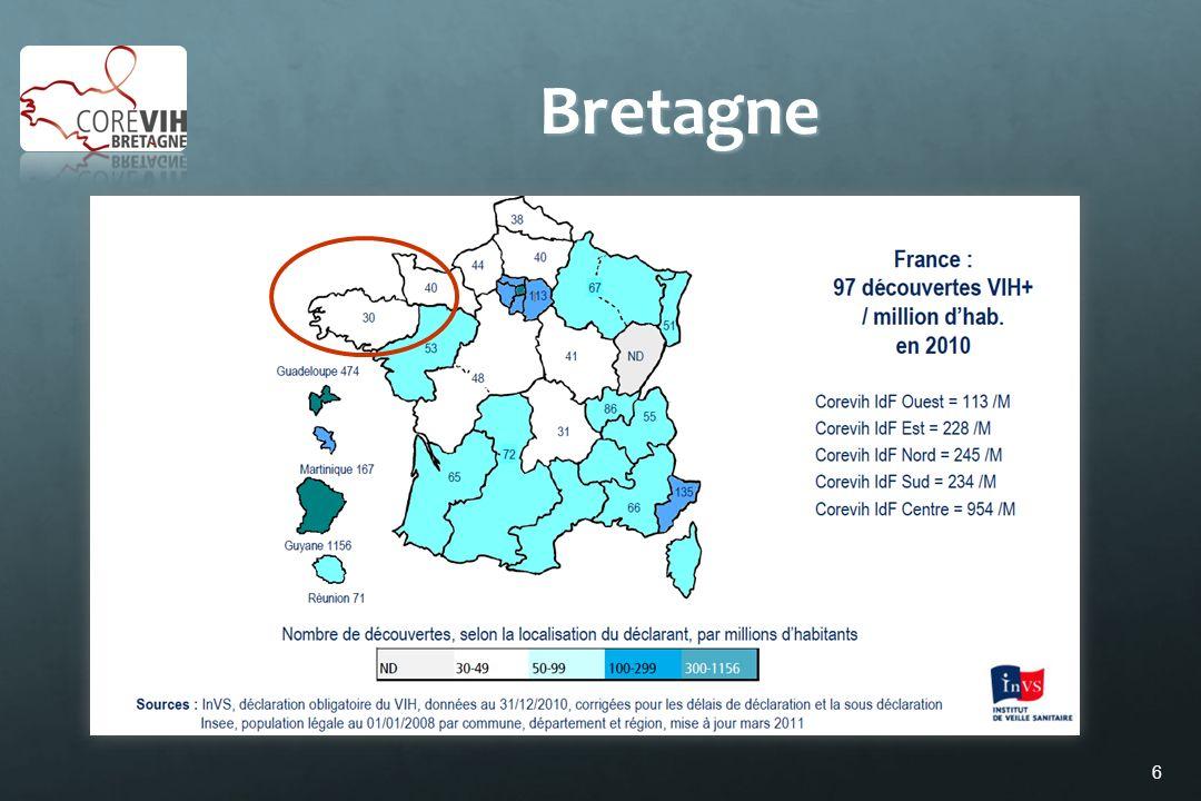 27 Ne faut-il pas adapter nos messages concernant la prise en charge post exposition en Bretagne Pas de TPE pour les rapports vaginaux hors personnes provenant de pays dendémie .