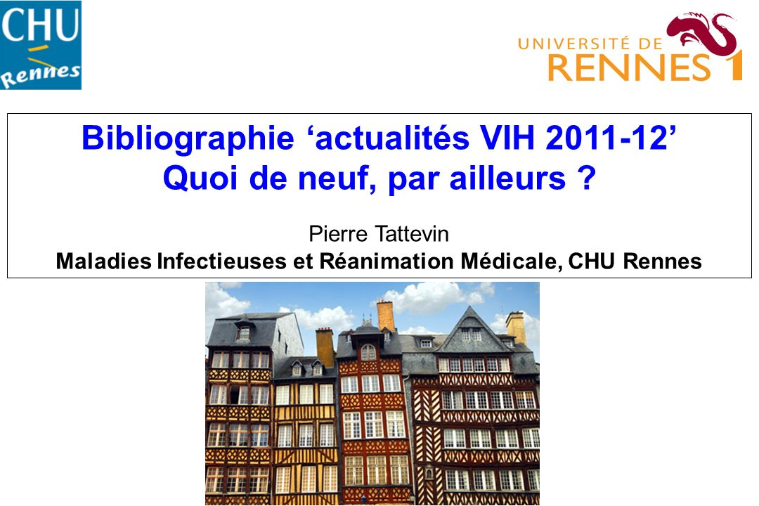 Bibliographie actualités VIH 2011-12 Quoi de neuf, par ailleurs .