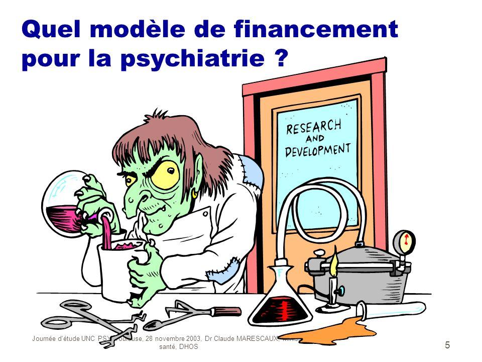 Journée d'étude UNC PSY, Toulouse, 28 novembre 2003, Dr Claude MARESCAUX, Ministère de la santé, DHOS 5 Peux t on appliquer le modèle MCO à la psychia