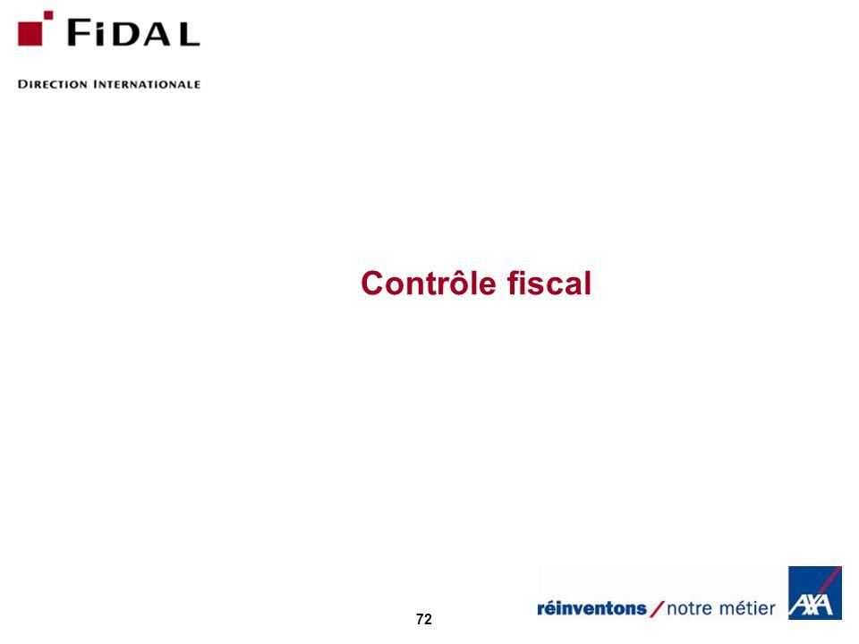 72 Contrôle fiscal
