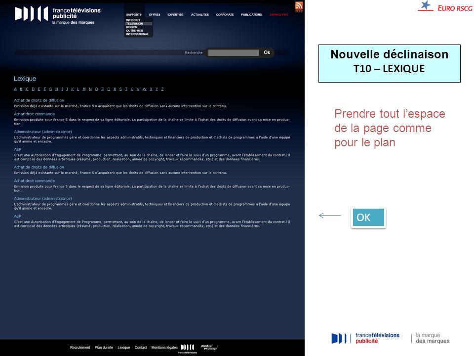 Nouvelle déclinaison T10 – LEXIQUE Prendre tout lespace de la page comme pour le plan OK