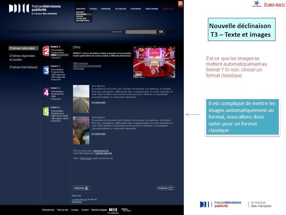 Nouvelle déclinaison T3 – Texte et images Est-ce que les images se mettent automatiquement au format .