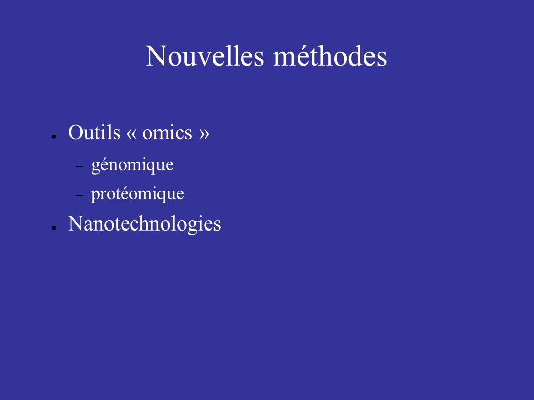 Nouvelles méthodes Outils « omics » – génomique – protéomique Nanotechnologies