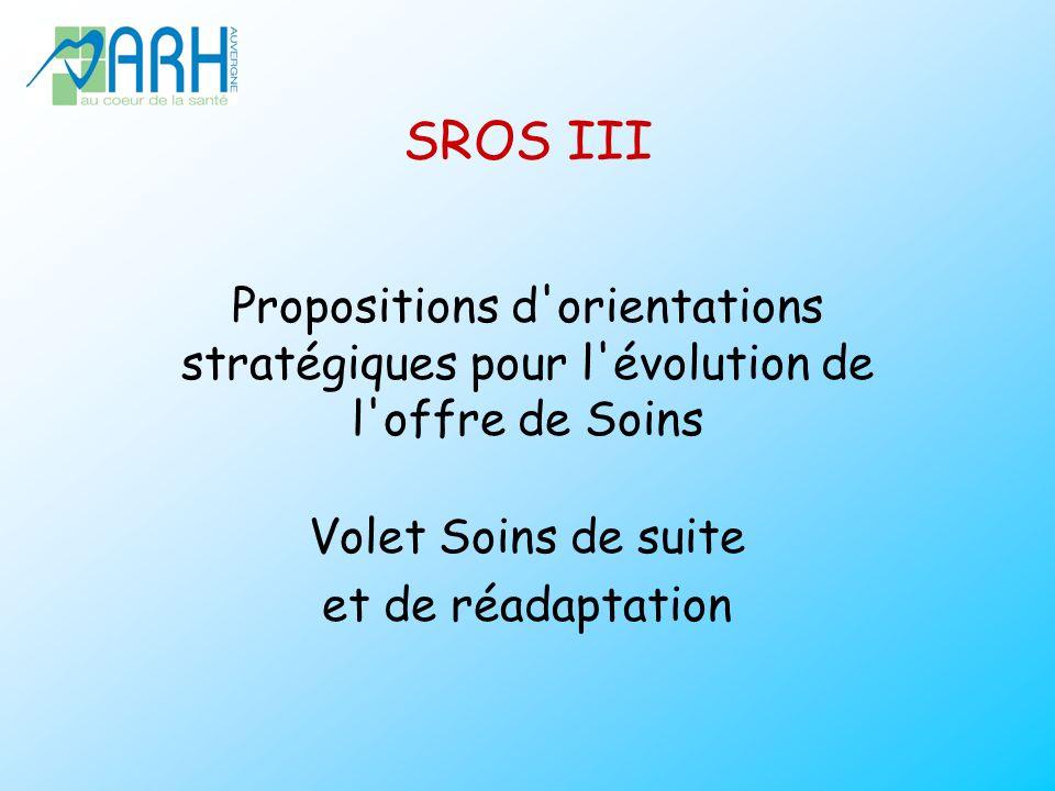 SROS III Propositions d orientations stratégiques pour l évolution de l offre de Soins Volet Soins de suite et de réadaptation
