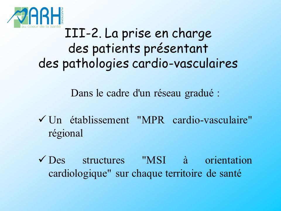 III-2. La prise en charge des patients présentant des pathologies cardio-vasculaires Dans le cadre d'un réseau gradué : Un établissement