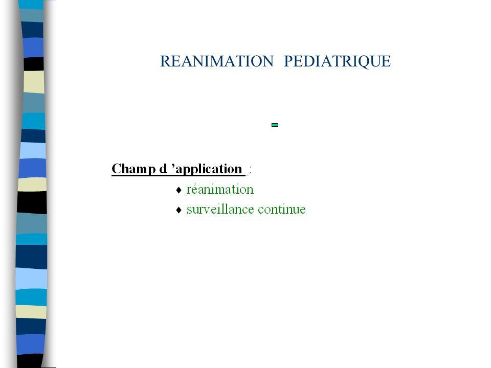 REANIMATION PEDIATRIQUE