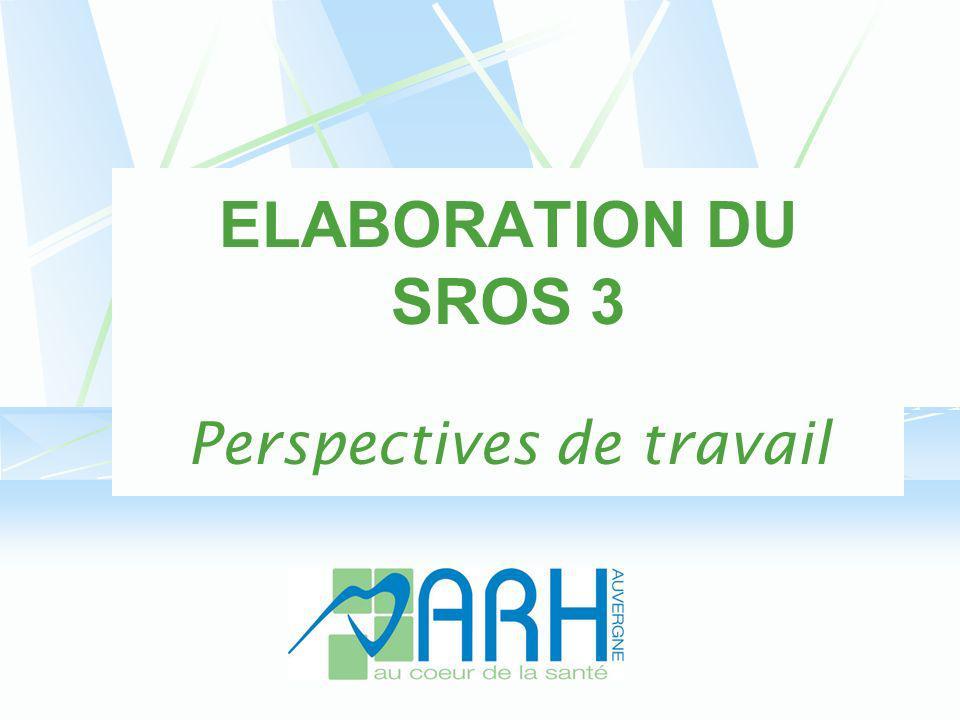 ELABORATION DU SROS 3 Perspectives de travail