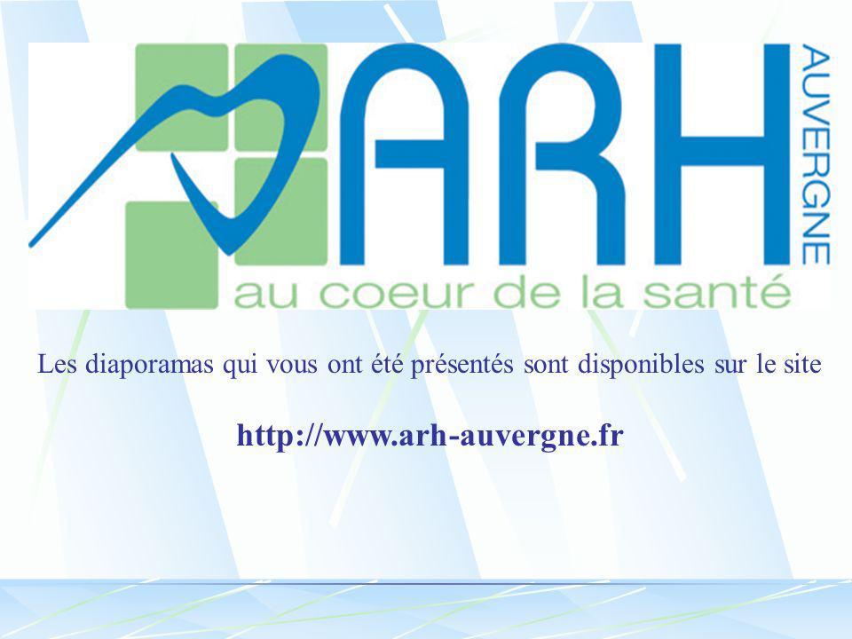 Les diaporamas qui vous ont été présentés sont disponibles sur le site http://www.arh-auvergne.fr