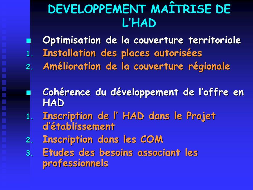 FACILITER LA COOPERATION, LA COMPLEMENTARITE, ET LA COORDINATION DES DIFFERENTS ACTEURS DE LHAD 1.
