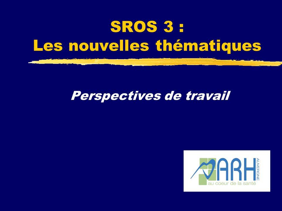 SROS 3 : Les nouvelles thématiques Perspectives de travail