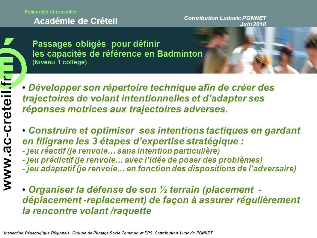 Solidarités et réussites Académie de Créteil Inspection Pédagogique Régionale.