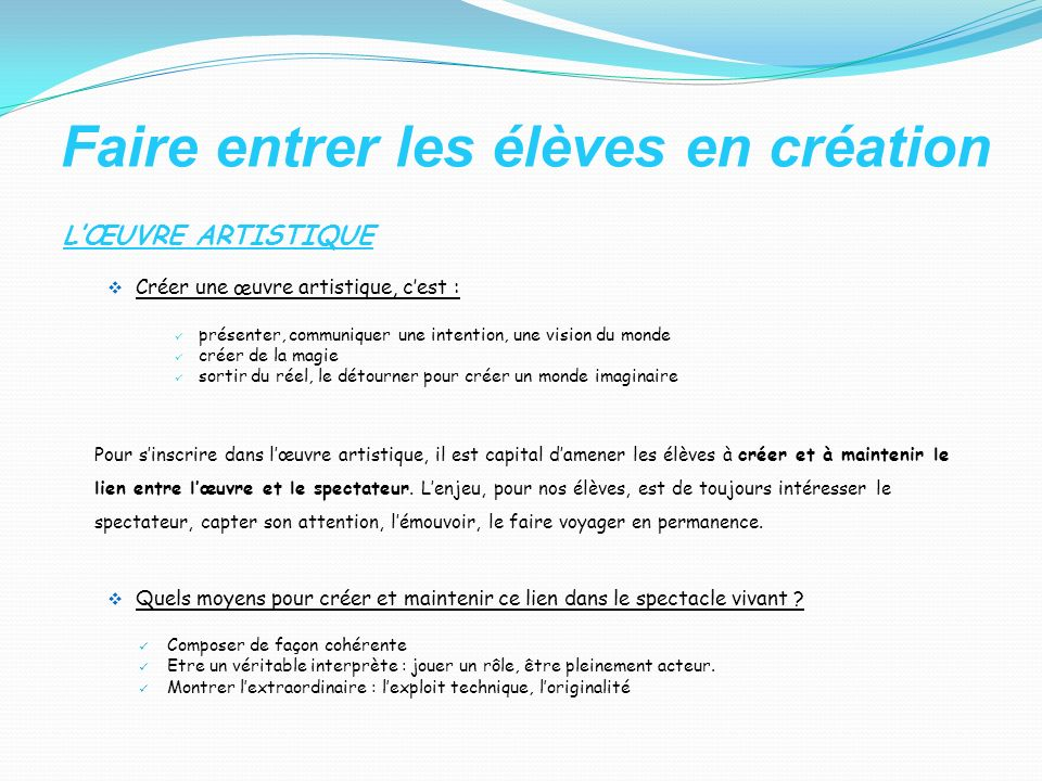 LE PROCESSUS DE CREATION (Schéma selon Alain Beaudot, La créativité à lécole) Alain Beaudot expose les travaux de Guilford qui distingue les modes de pensée divergent et convergent.