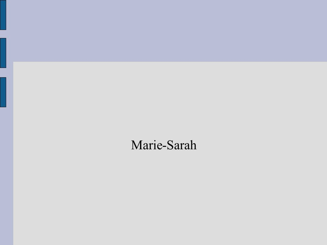 Marie-Sarah