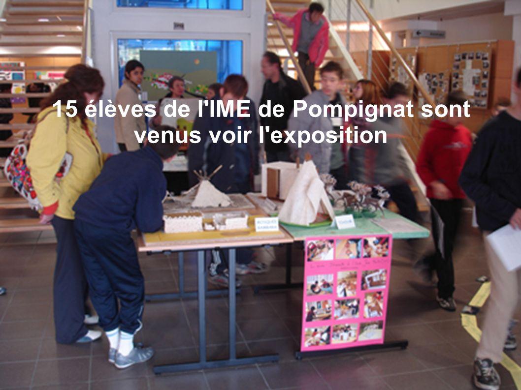 15 élèves de l'IME de Pompignat sont venus voir l'exposition