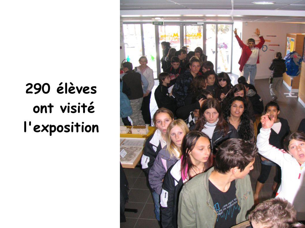 290 élèves ont visité l'exposition