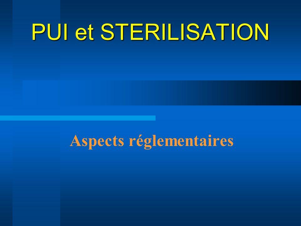 PUI et STERILISATION Aspects réglementaires