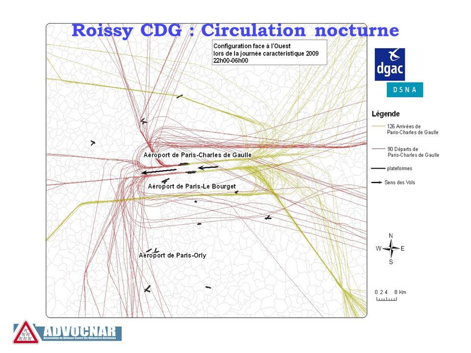 Configurations et principales routes Bleu : configuration ouest Rouge : configuration est