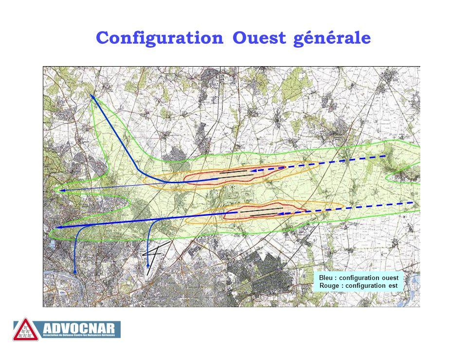 Configuration Ouest générale Bleu : configuration ouest Rouge : configuration est