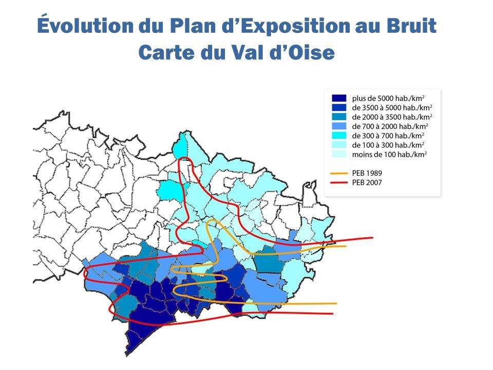 Évolution du Plan dExposition au Bruit Carte du Val dOise