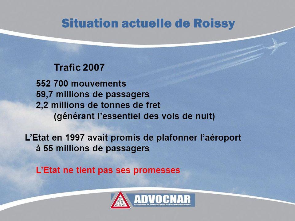 Trafic 2007 552 700 mouvements 59,7 millions de passagers 2,2 millions de tonnes de fret (générant lessentiel des vols de nuit) LEtat en 1997 avait pr