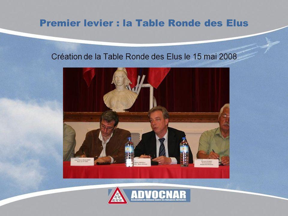 Premier levier : la Table Ronde des Elus Création de la Table Ronde des Elus le 15 mai 2008