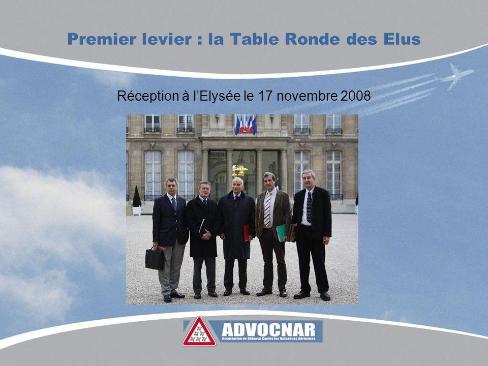 Premier levier : la Table Ronde des Elus Réception à lElysée le 17 novembre 2008