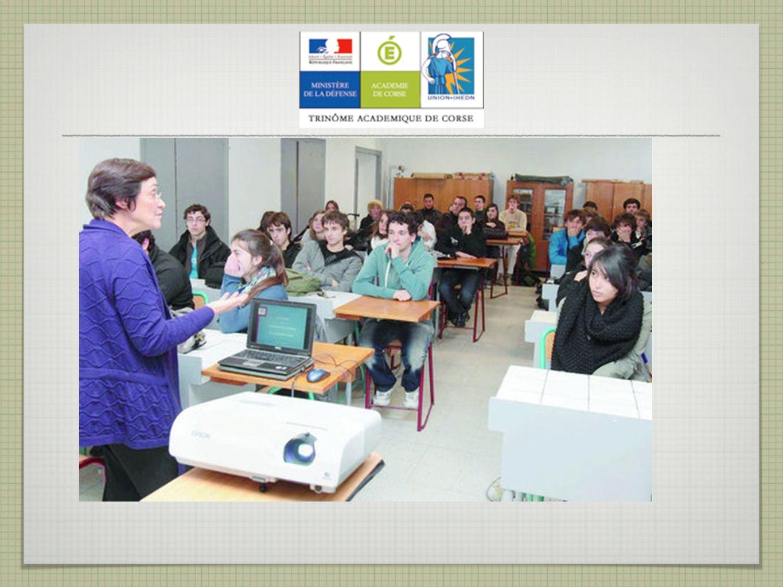 ACTIONS PONCTUELLES JDC au lycée Giocante de Casabianca à Bastia Diffusion dinformations et des dossiers dinscription sur les préparations militaire air.